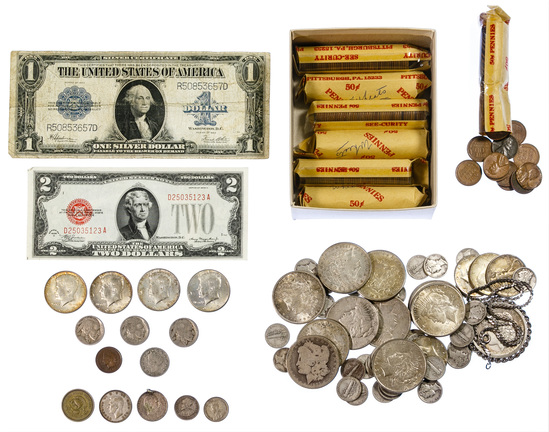 US Coin and Currency Assortment