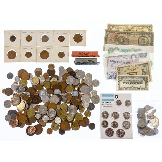 World: Coins and Currency Assortment