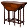 Victorian Inlaid Mahogany Gateleg Drop Leaf Table
