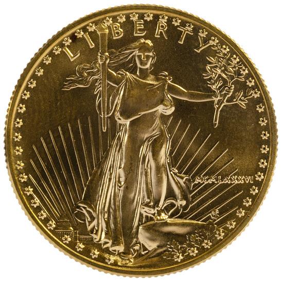 1986 $25 Gold Unc.
