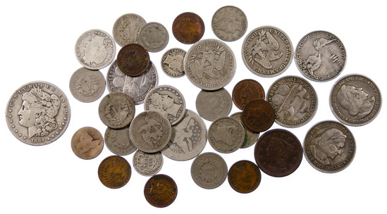 1894-S $1 and Type Coin Assortment