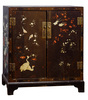 Asian Style Black Enameled Wood Chest