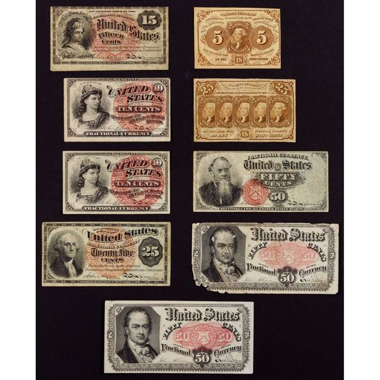 US Fractional Currency Assortment