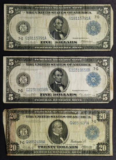 1914 Federal Reserve Note Assortment