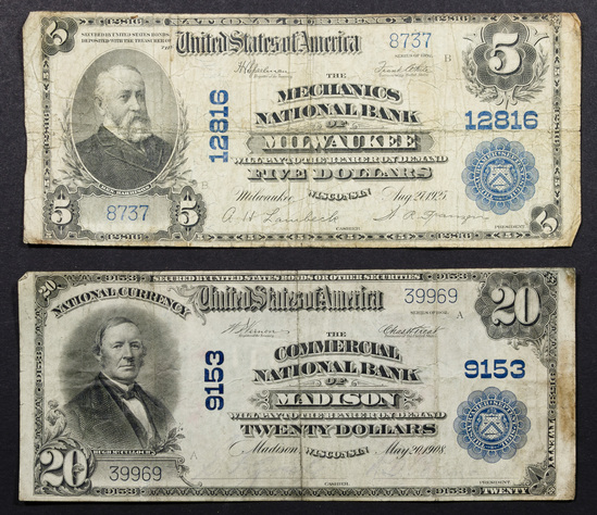 Wisconsin National Currency Assortment
