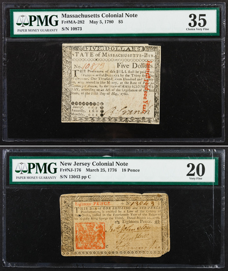 Colonial Currency Assortment