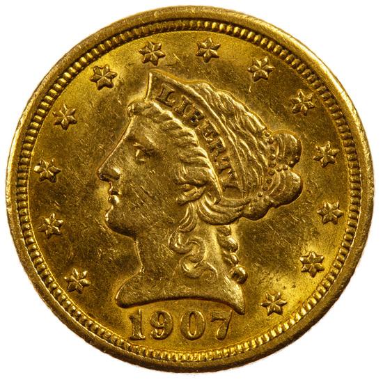 1907 $2 1/2 Liberty Gold AU Details