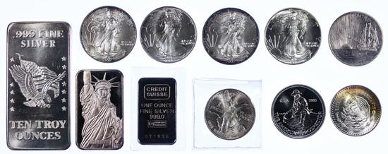 Silver Eagle, Token and Bar Assortment