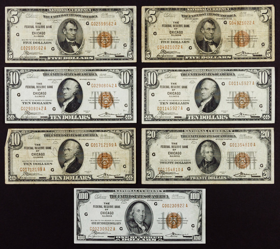 US National Chicago Bank Note Assortment