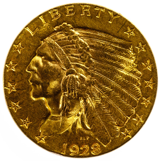 1928 $2 1/2 Gold Indian