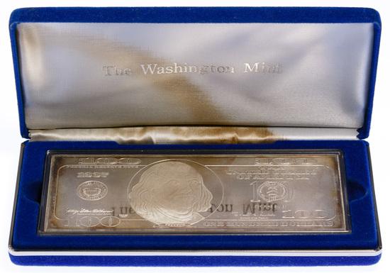 1997 $100 Fine Silver (999) Federal Reserve Note