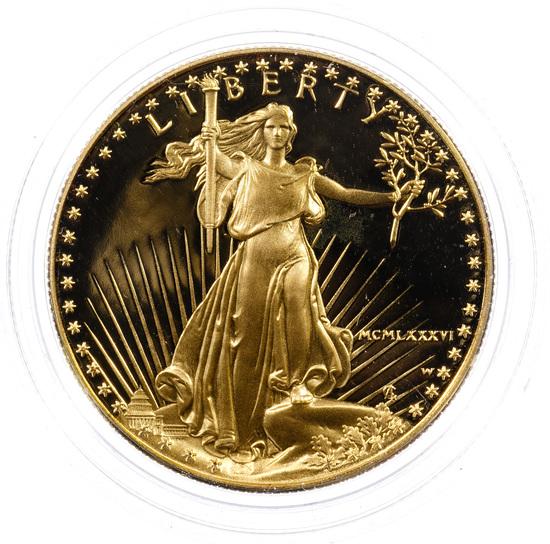 1986-W $50 Gold Proof American Eagle