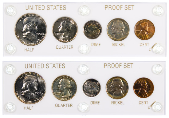 1952 and 1953 US Proof Sets