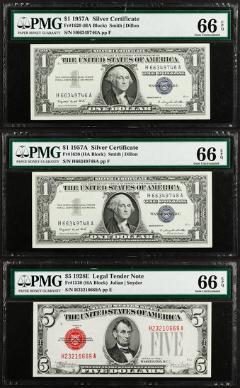 PMG Graded Currency Assortment