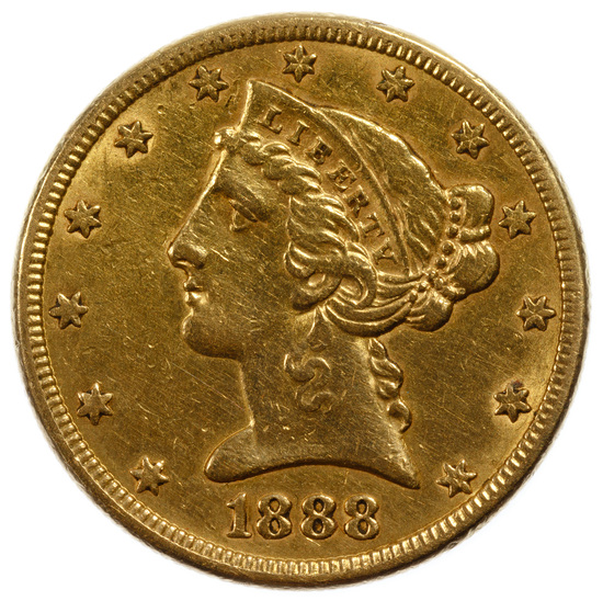 1888-S $5 Gold XF