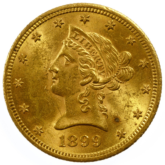 1899 $10 Gold AU
