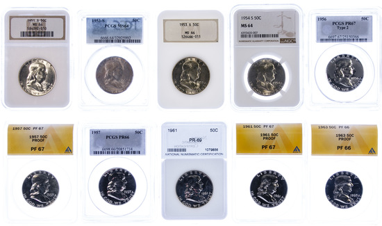 Franklin 50c Graded Assortment