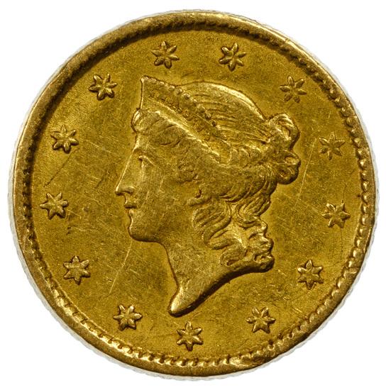 1851 $1 Gold VF