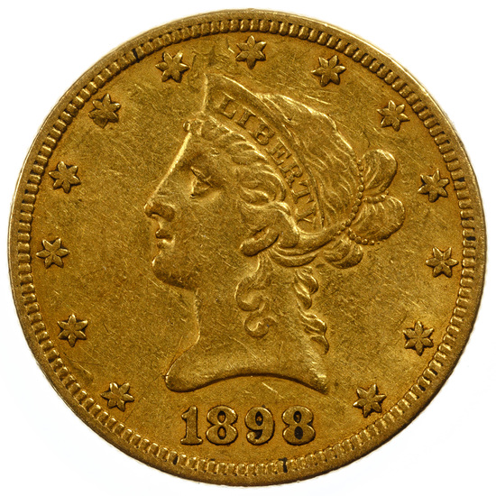 1898 $10 Gold XF