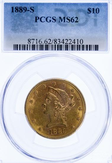 1889-S $10 Gold MS-62 PCGS