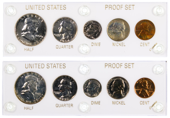 1954 and 1955 US Proof Sets
