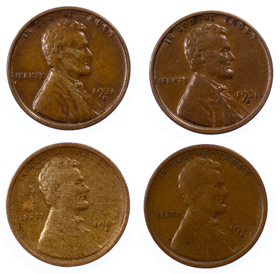 1909-S and 1931-S 1c Assortment