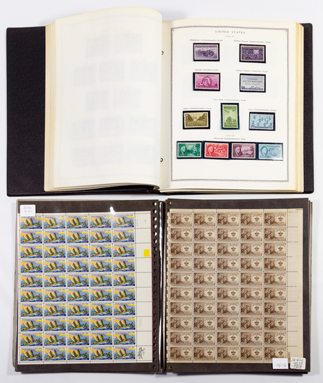 US Stamp and Plate Block Assortment