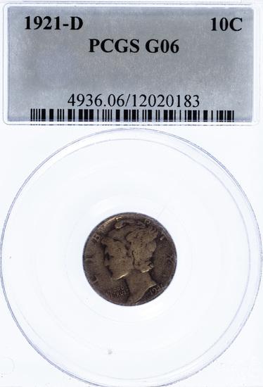 1921-D 10c G-6 PCGS