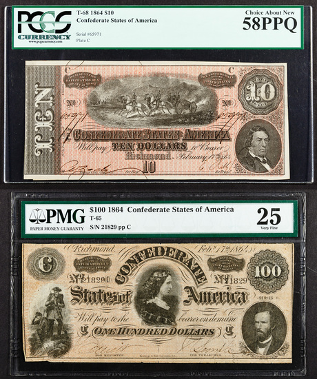 Confederate Currency Assortment