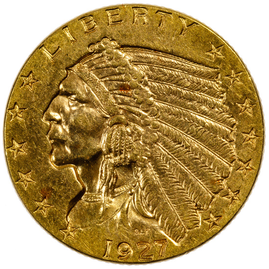 1927 $2 1/2 Indian Gold