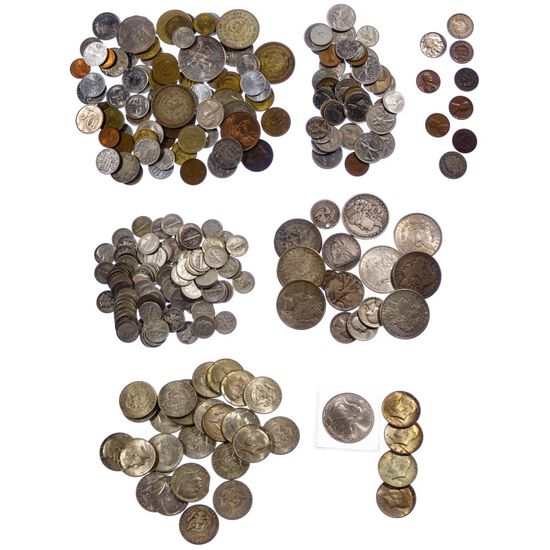 US and World Coin and Currency Assortment