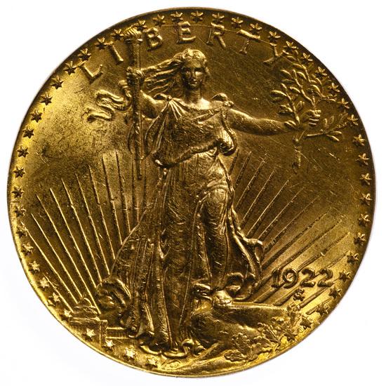 1922 $20 St Gaudens Gold Ex-Jewelry