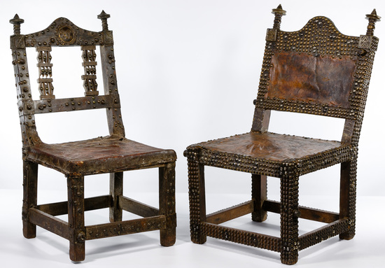 Ghana Ashanti Oak Court Chairs