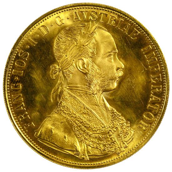 Austria: RESTRIKE 1915 4 Ducat Gold