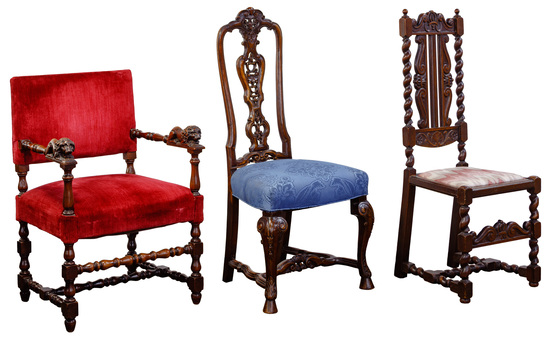 Continental Carved Wood Chair Assortment
