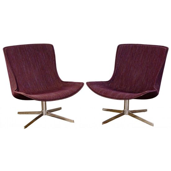 MCM Swivel Lounge Chairs