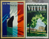 Paul Colin (French, 1892-1986) Transatlantic Poster and Chanel Vittel Poster