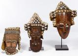 African Kuba Helmet Mask Assortment
