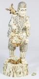 Asian Polychrome Bone Statue