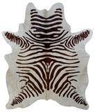Zebra Print Natural Hide Rug