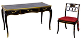Baker Furniture Lacquer Writing Desk and Chair