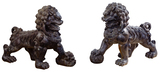 Asian Style Resin Foo Dogs