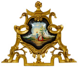 Venetian Gilt Mirror Crest with Painted Insert