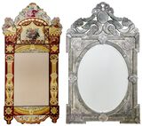 Venetian Style and Verre Eglomise Wall Mirrors