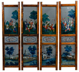 Asian Reverse Painting on Glass Assortment