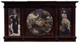 Victorian Triptych Mantel Decoration