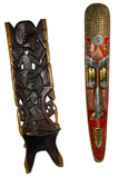 West African Palaver Chair and Nepal Mask