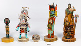 Native American Kachina Figurine Assortment