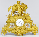 French Gilt and Ormulu Mantel Clock