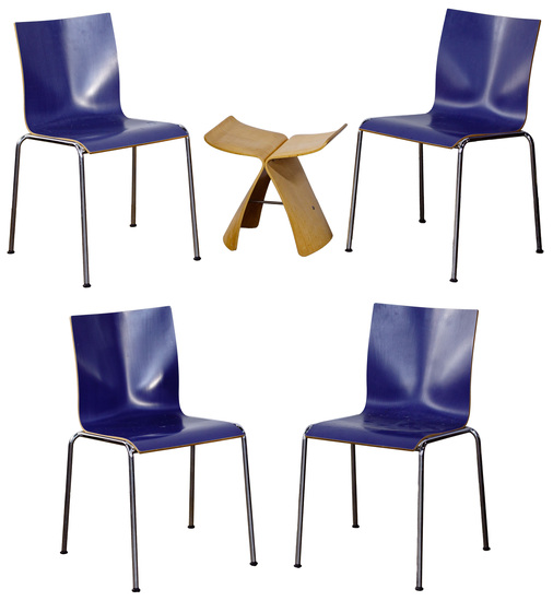 Erik Magnussen for Engelbrecht Bentwood Chair Assortment